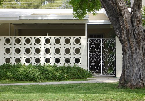 Modern Mid Century Decorative Concrete Blocks