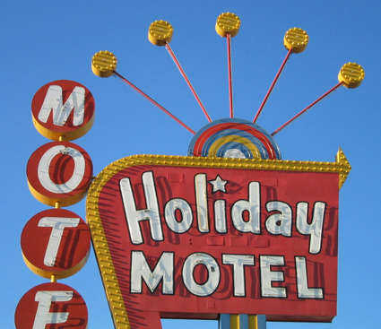 holiday motel sign