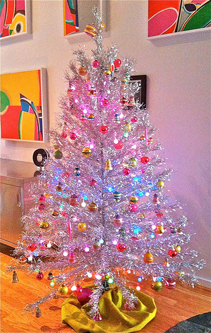 Vintage aluminum christmas trees- our favorite holiday eye candy ...