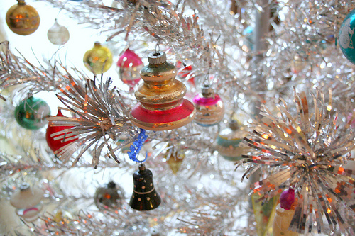 Vintage aluminum christmas trees- our favorite holiday eye candy!
