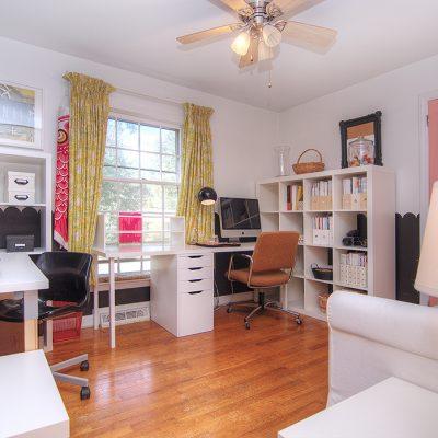 1 of 3 bedrooms hardwood floors and double door closets