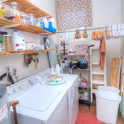 Large laundry utility and storage