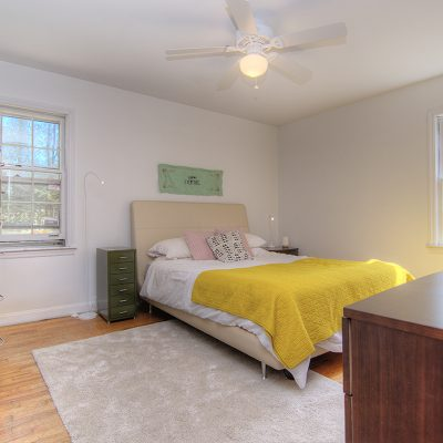 Master bedroom with ensuite full bathroom and 2 closets