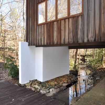 3625 Glenkirk Rd modern home built over a creek