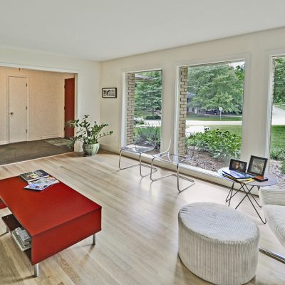 7101 Terrace Dr | mid century modern living room