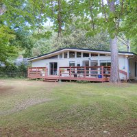 1311 Greylyn Dr mid-century modern charlotte home back deck