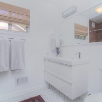 1311 Greylyn Dr mid-century modern charlotte home renovated bathroom