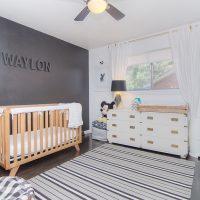 1311 Greylyn Dr mid-century modern charlotte home bedroom