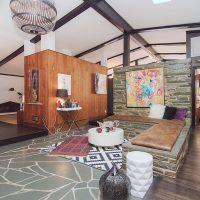 1311 Greylyn Dr Mid-Century Modern Charlotte Home open floor plan