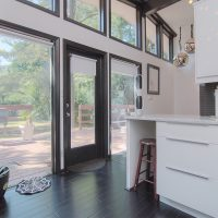 1311 Greylyn Dr mid-century modern charlotte home sunny kitchen