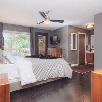 1311 Greylyn Dr mid-century modern charlotte home master bedroom
