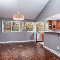 Dining Room with parquet floors