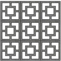 Modern Charlotte Decorative Concrete Block